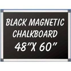 """48"""" x 60"""" Aluminum Framed Magnetic Black Chalkboard"""