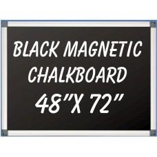 """48""""x 72"""" Aluminum Framed Magnetic Black Chalkboard"""