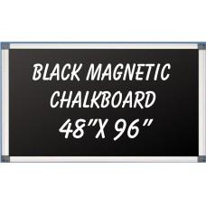 """48"""" x 96"""" Aluminum Framed Magnetic Black Chalkboard"""