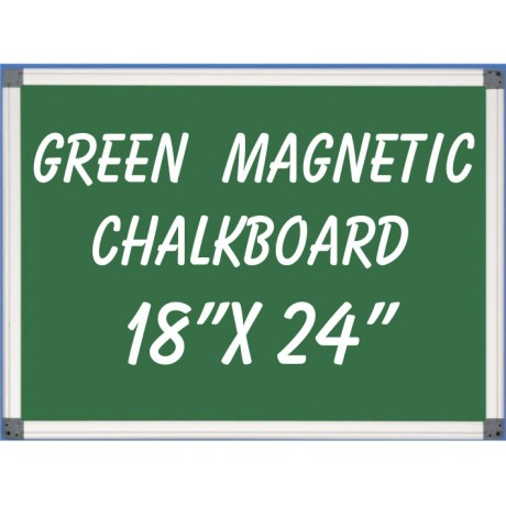 """18"""" x 24"""" Aluminum Framed Magnetic Green Chalkboard"""
