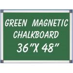 """36"""" x 48"""" Aluminum Framed Magnetic Green Chalkboard"""