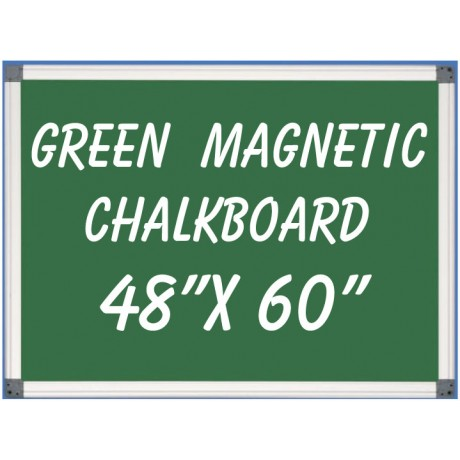 """48"""" x 60"""" Aluminum Framed Magnetic Green Chalkboard"""