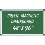 """48"""" x 96"""" Aluminum Framed Magnetic Green Chalkboard"""