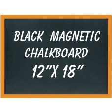 "12"" x 18"" Wood Framed Black Magnetic Chalkboard"