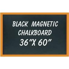 """36"""" x 60"""" Wood Framed Black Magnetic Chalkboard"""