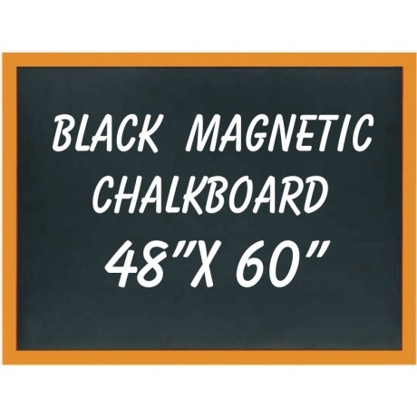 "48"" x 60"" Wood Framed Black Magnetic Chalkboard"