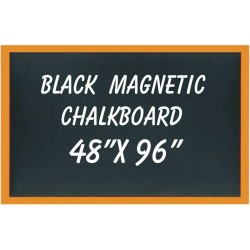 "48"" x 96"" Wood Framed Black Magnetic Chalkboard"