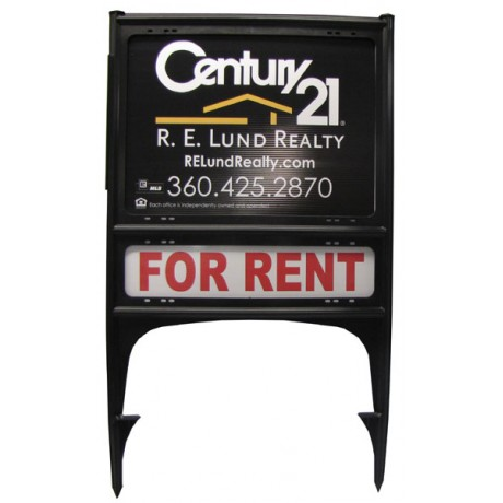 2 Sided Real Estate Poly Plastic Yard Sign with Posters