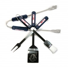 Cleveland Indians 4 Piece BBQ Set
