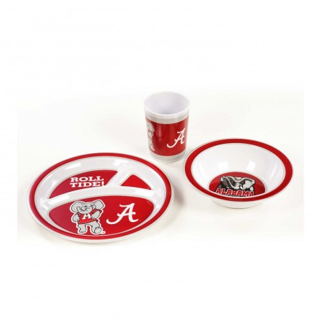 Alabama Crimson Tide 5 pc Kid's Dish Set