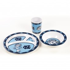 North Carolina Tar Heels 3 pc Kid's Dish Set
