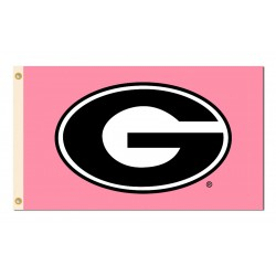 Georgia Bulldogs Pink 3'x 5' Flag