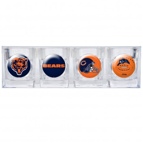 Chicago Bears 4 pc Shot Glass Set