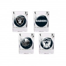 Oakland Raiders 4 pc Shot Glass Set