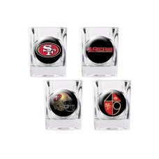 San Francisco 49ers 4 pc Shot Glass Set