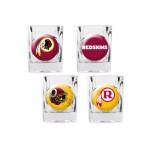 Washington Redskins 4 pc Shot Glass Set