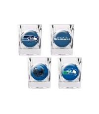 Seattle Seahawks 4 pc Shot Glass Set