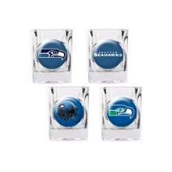 Seattle Seahawks 4 pc Shot Glass Set