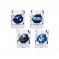 New England Patriots 4 pc Shot Glass Set