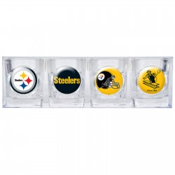 Pittsburgh Steelers 4 pc Shot Glass Set
