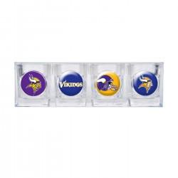 Minnesota Vikings 4 pc Shot Glass Set