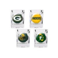 Green Bay Packers 4 pc Shot Glass Set