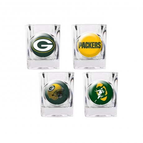 Green Bay Packers 4 pc Shot Glass Set