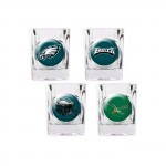 Philadelphia Eagles 4 pc Shot Glass Set