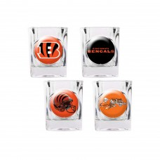 Cincinnati Bengals 4 pc Shot Glass Set