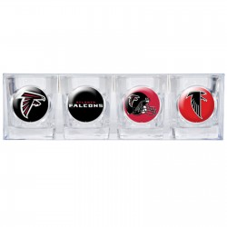 Atlanta Falcons 4 pc Shot Glass Set
