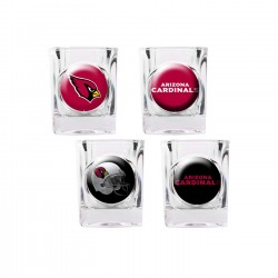 Arizona Cardinals 4 pc Shot Glass Set