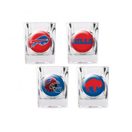 Buffalo Bills 4 pc Shot Glass Set