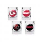 Kansas City Chiefs 4 pc Shot Glass Set