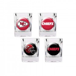 Kansas City Chiefs 4 pc Shot Glass Set