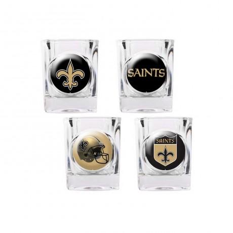 New Orleans Saints 4 pc Shot Glass Set
