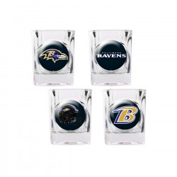 Baltimore Ravens 4 pc Shot Glass Set