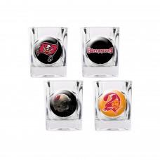 Tampa Bay Buccaneers 4 pc Shot Glass Set