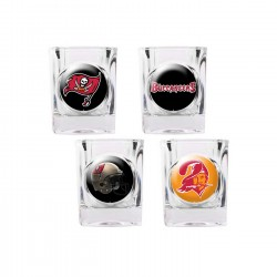 Tampa Bay Buccaneers 4 pc Shot Glass Set