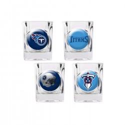 Tennessee Titans 4 pc Shot Glass Set