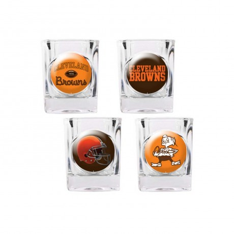 Cleveland Browns 4 pc Shot Glass Set