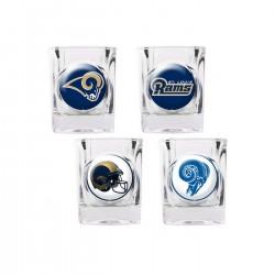 St. Louis Rams 4 pc Shot Glass Set