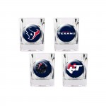 Houston Texans 4 pc Shot Glass Set