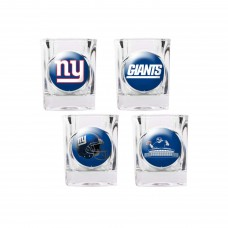 New York Giants 4 pc Shot Glass Set