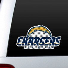 San Diego Chargers 12-inch Die Cut Window Film
