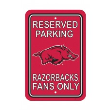 Arkansas Razorbacks 12-inch by 18-inch Parking Sign