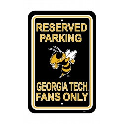 Georgia Tech 12-inch by 18-inch Parking Sign