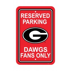 Georgia Bulldogs 12-inch by 18-inch Parking Sign