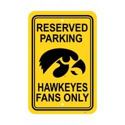 Iowa Hawkeyes 12-inch by 18-inch Parking Sign
