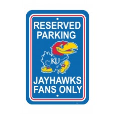 Kansas Jayhawks 12-inch by 18-inch Parking Sign