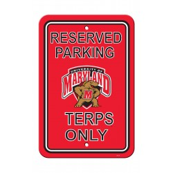 Maryland Terrapins 12-inch by 18-inch Parking Sign